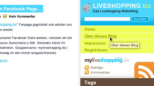 liveshopping.biz screenshot